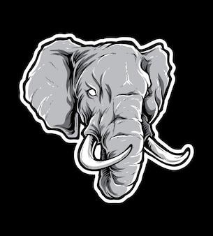 Tête de vecteur d'éléphant