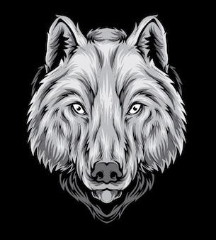 Tête de vecteur de loup