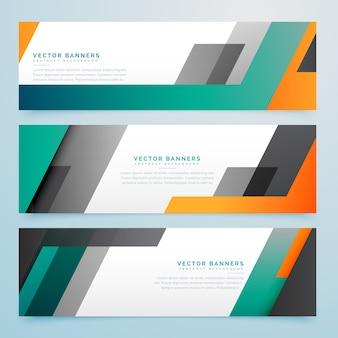 En-têtes d'affaires géométriques mis en arrière-plan
