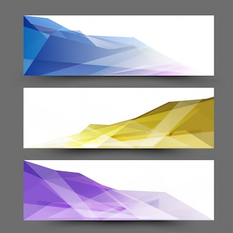 En-têtes ou bannières de site web avec un design abstrait.