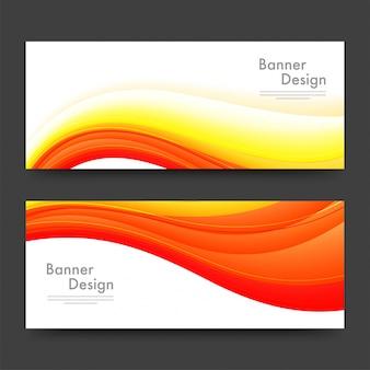 En-têtes ou bannières de sites web conçus avec des vagues.