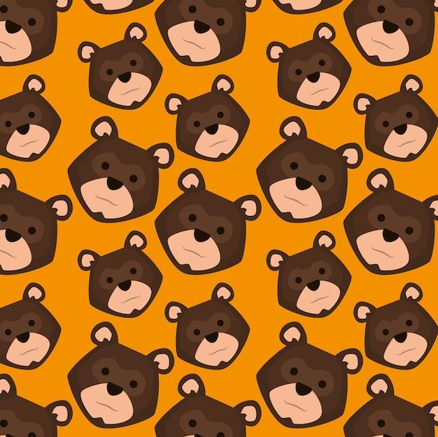 Têtes de grizzli