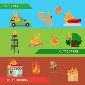 Têtes horizontales à risque d'incendie