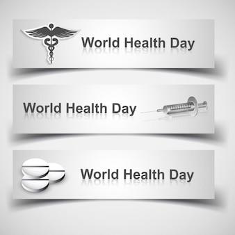 Têtes de monde de jour de santé