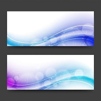 En-têtes de site web avec des ondes abstraites.