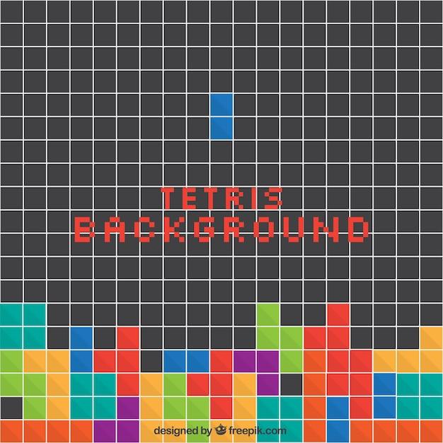 Tetris fond avec des carrés colorés