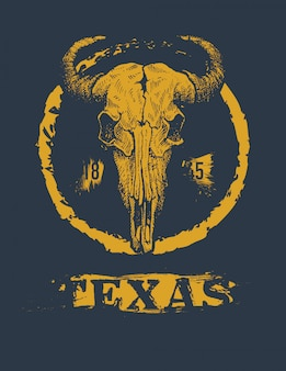 Texas buffalo tee print graphic