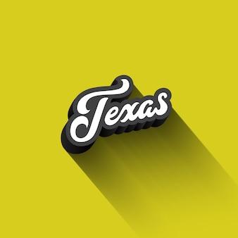 Texas texte calligraphie vintage rétro lettrage