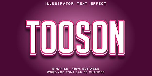 Text-effct-editable-tooson