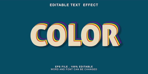 Text-effect-editable-color