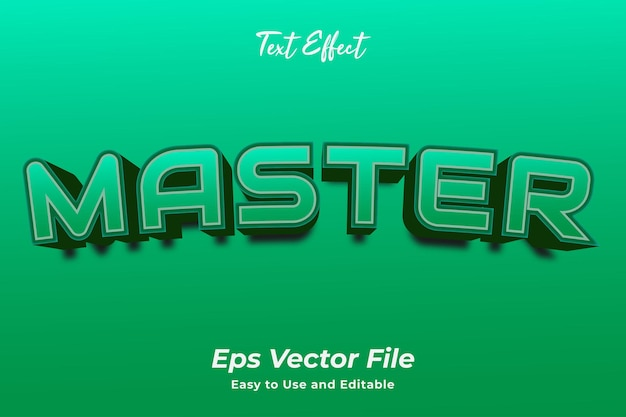 Text effect master vecteur premium modifiable et facile à utiliser