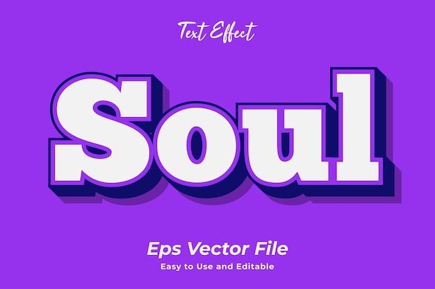 Text effect soul vecteur premium facile à utiliser et modifiable