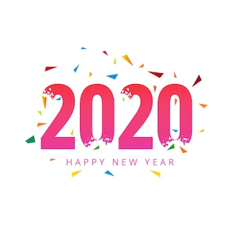 Texte de 2020 happy new year pour carte de voeux