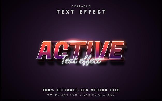Texte actif - effet de texte de style dégradé 3d modifiable
