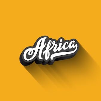 Texte afrique calligraphie lettrage rétro vintage