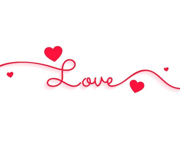 Texte d'amour élégant pour la saint valentin avec des coeurs