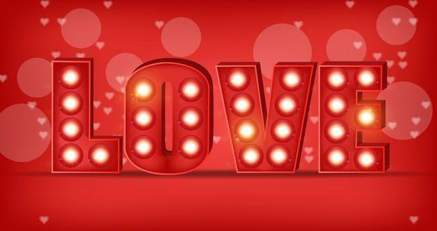 Texte d'amour en lumières