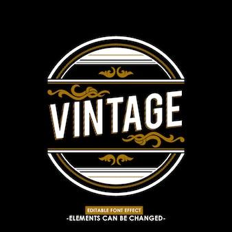 Texte et badge vintage pour marque ou titre