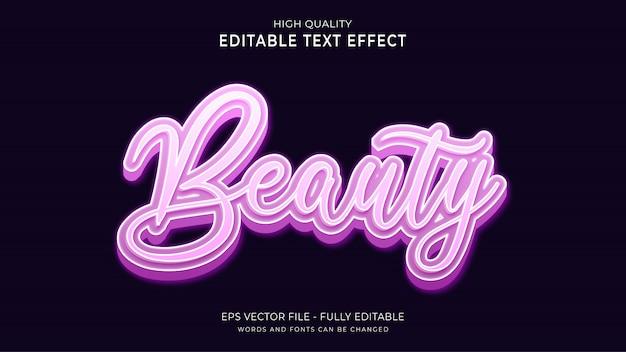 Texte de beauté, effet de police modifiable.