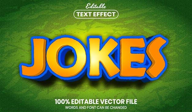 Texte de blagues, effet de texte modifiable de style de police