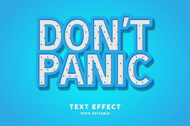 Texte bleu 3d avec polkadots - effet de texte, texte modifiable