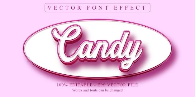 Texte de bonbons, effet de texte modifiable de style dessin animé