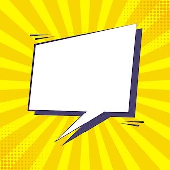 Texte de bulle de discours dans la conception de style bande dessinée