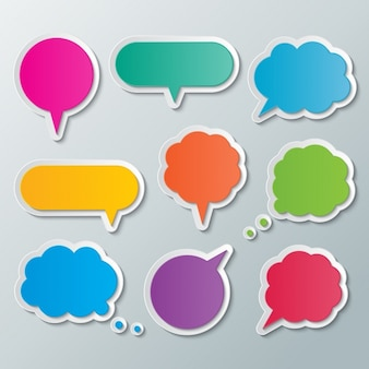Texte bulles colorées