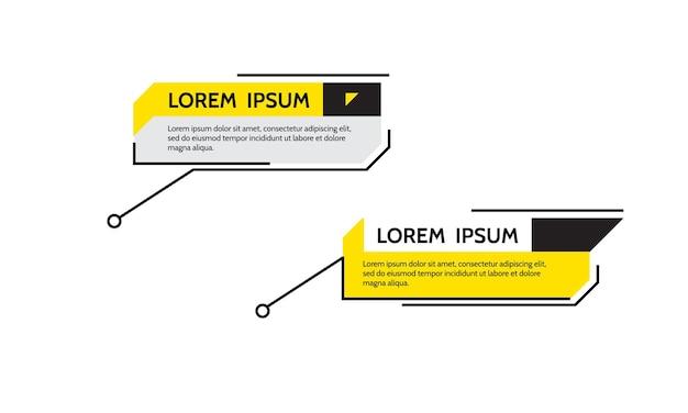 Texte de cadre de titre de légendes numériques hud ensemble de modèles de bannières modernes élément de titre de conception vectorielle