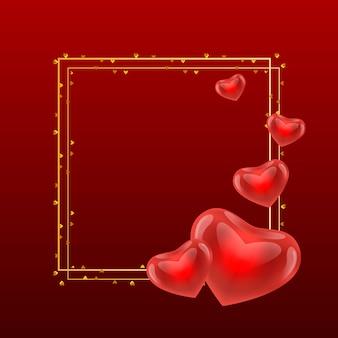 Texte de calligraphie or saint valentin