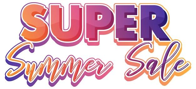 Un texte calligraphique de vente d'été