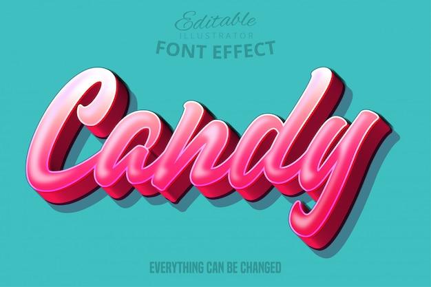 Texte candy, effet de police modifiable