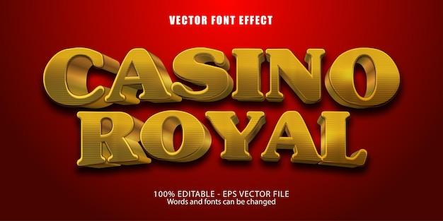 Texte de casino royal, effet de texte modifiable de style doré