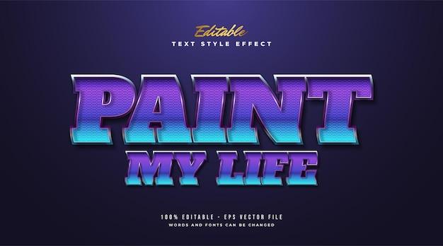 Texte coloré en gras dans un style rétro avec effet ondulé et texturé