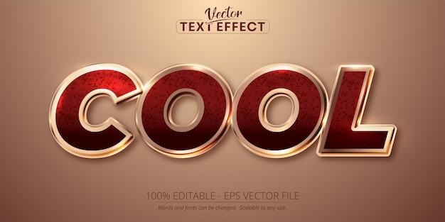 Texte cool, effet de texte modifiable de style couleur or rose brillant