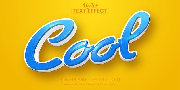 Texte cool, effet de texte modifiable de style dessin animé