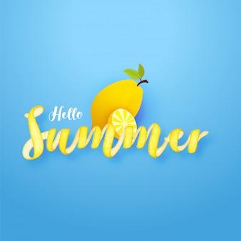 Texte créatif de hello summer