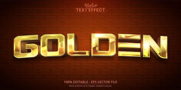 Texte doré, effet de texte modifiable de style couleur or brillant