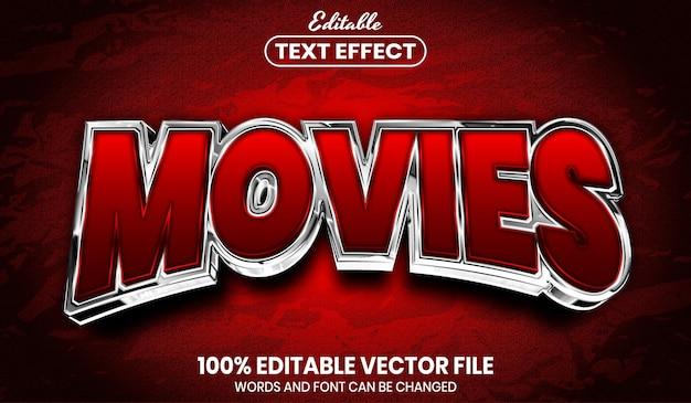 Texte du film, effet de texte modifiable de style de police