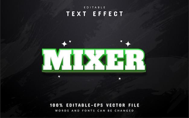 Texte du mélangeur - effets de texte modifiables