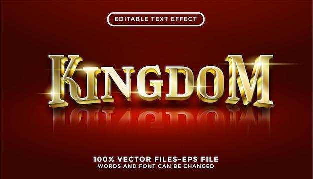 Texte du royaume. effet de texte modifiable avec des vecteurs premium de style or