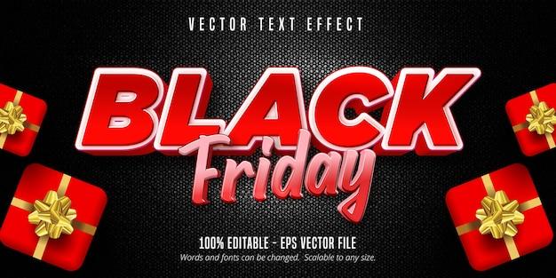 Texte du vendredi noir, effet de texte modifiable