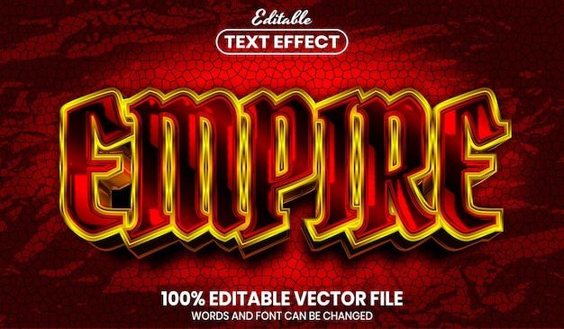 Texte empire, effet de texte modifiable de style de police
