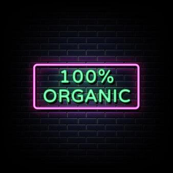 Texte d'enseigne au néon 100% organique