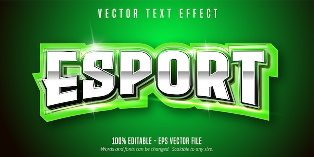 Texte esport, effet de texte modifiable de style sport
