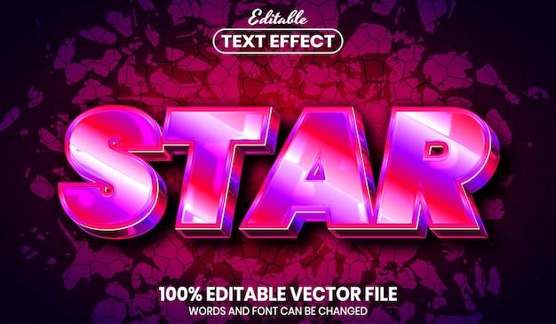 Texte en étoile, effet de texte modifiable de style de police