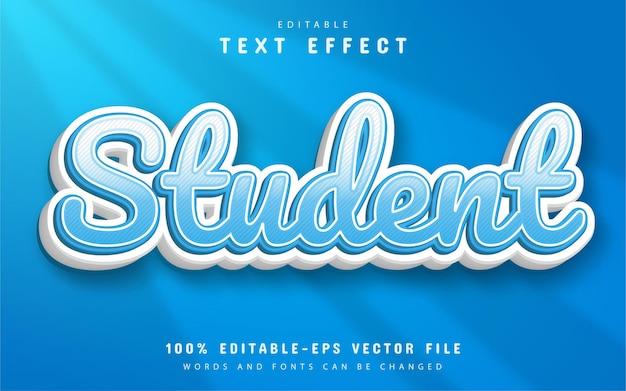 Texte étudiant, effet de texte 3d modifiable