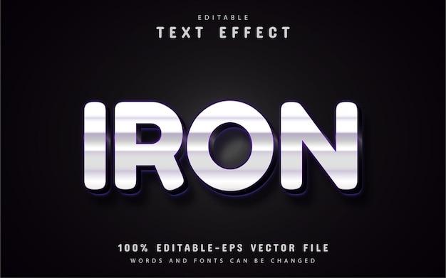 Texte en fer, effet de texte de style argenté