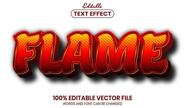 Texte de flamme, effet de texte modifiable de style de police