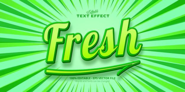 Texte frais, effet de texte modifiable